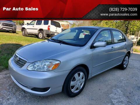 2007 Toyota Corolla for sale at Par Auto Sales in Lenoir NC