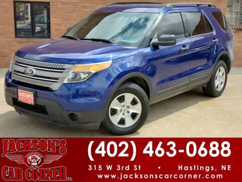 2014 Ford Explorer for sale at Jacksons Car Corner Inc in Hastings NE