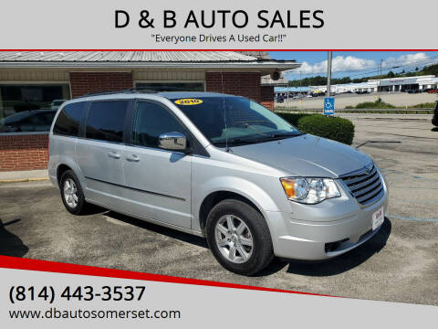 2010 Chrysler Town and Country for sale at D & B AUTO SALES in Somerset PA