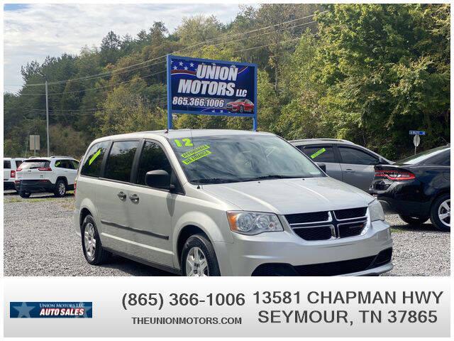2012 Dodge Grand Caravan for sale at Union Motors in Seymour TN