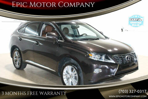 2013 Lexus RX 450h for sale at Epic Motor Company in Chantilly VA