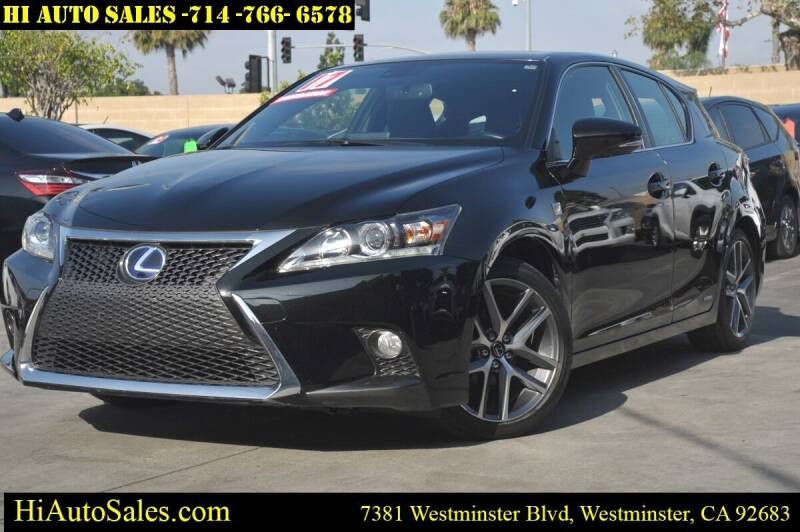 2017 Lexus CT 200h for sale at Hi Auto Sales in Westminster CA