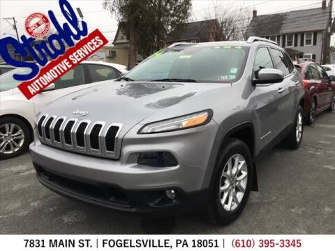 2014 Jeep Cherokee for sale at Strohl Automotive Services in Fogelsville PA