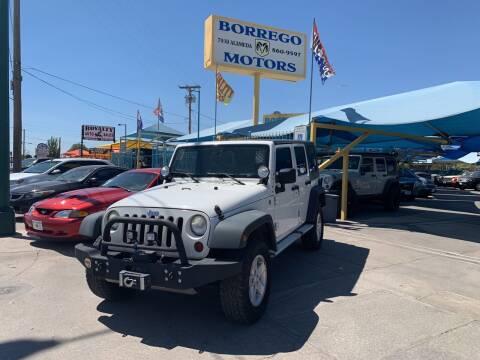 2009 Jeep Wrangler Unlimited for sale at Borrego Motors in El Paso TX