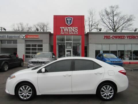 2014 Toyota Corolla for sale at Twins Auto Sales Inc in Detroit MI