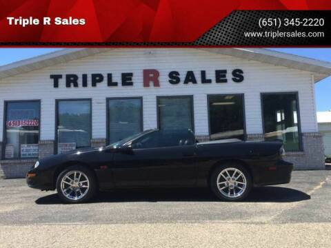 2002 Chevrolet Camaro for sale at Triple R Sales in Lake City MN