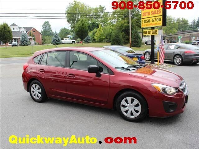 2014 Subaru Impreza for sale at Quickway Auto Sales in Hackettstown NJ