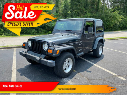 2001 Jeep Wrangler for sale at ABA Auto Sales in Bloomington IN