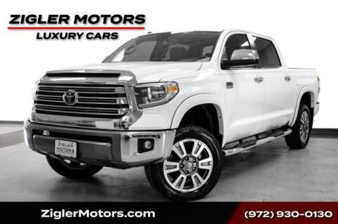 2019 Toyota Tundra for sale at Zigler Motors in Addison TX