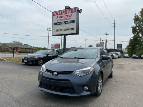 2014 Toyota Corolla for sale at Unlimited Auto Group in West Chester OH