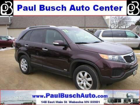2011 Kia Sorento for sale at Paul Busch Auto Center Inc in Wabasha MN