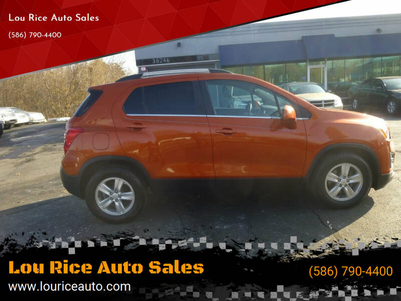 2015 Chevrolet Trax for sale at Lou Rice Auto Sales in Clinton Township MI