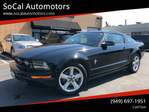2008 Ford Mustang for sale at SoCal Automotors in Costa Mesa CA