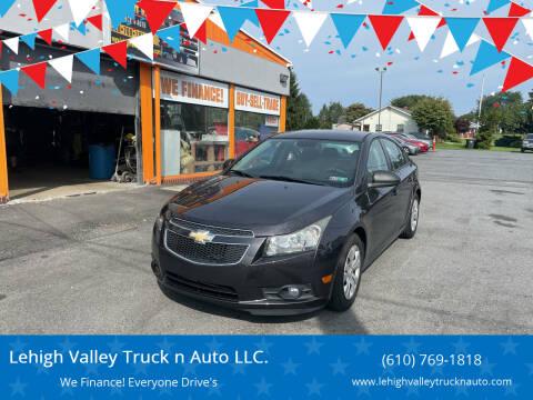 2014 Chevrolet Cruze for sale at Lehigh Valley Truck n Auto LLC. in Schnecksville PA