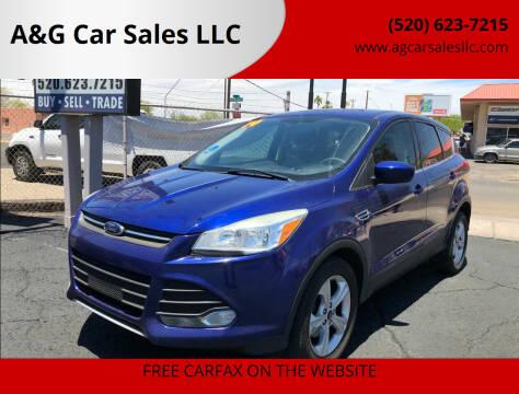 2014 Ford Escape for sale at A&G Car Sales  LLC in Tucson AZ