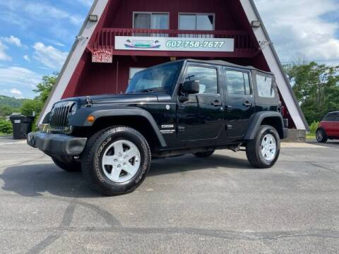 2014 Jeep Wrangler Unlimited for sale at Pop's Automotive in Homer NY
