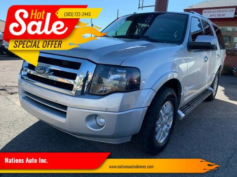 2013 Ford Expedition for sale at Nations Auto Inc. in Denver CO