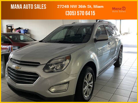 2017 Chevrolet Equinox for sale at MANA AUTO SALES in Miami FL