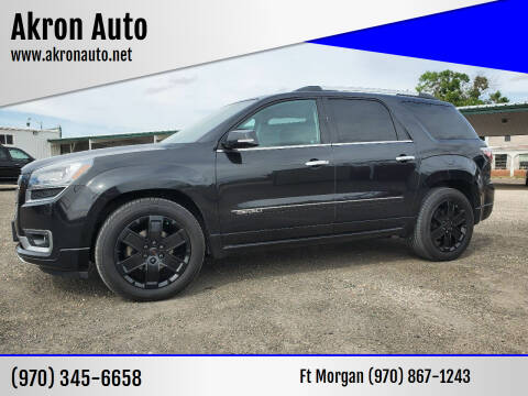2014 GMC Acadia for sale at Akron Auto in Akron CO