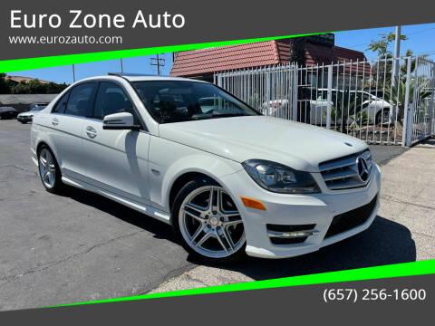 2012 Mercedes-Benz C-Class for sale at Euro Zone Auto in Stanton CA