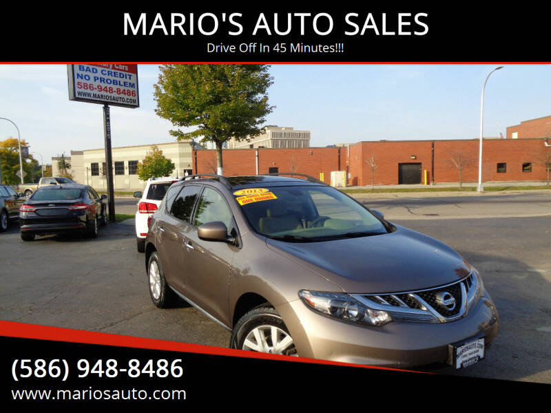 2013 Nissan Murano for sale at MARIO'S AUTO SALES in Mount Clemens MI