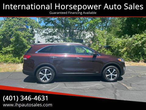 2016 Kia Sorento for sale at International Horsepower Auto Sales in Warwick RI