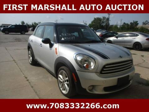 2013 MINI Countryman for sale at First Marshall Auto Auction in Harvey IL