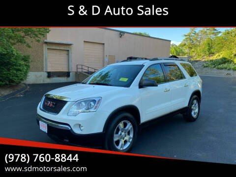 2012 GMC Acadia for sale at S & D Auto Sales in Maynard MA