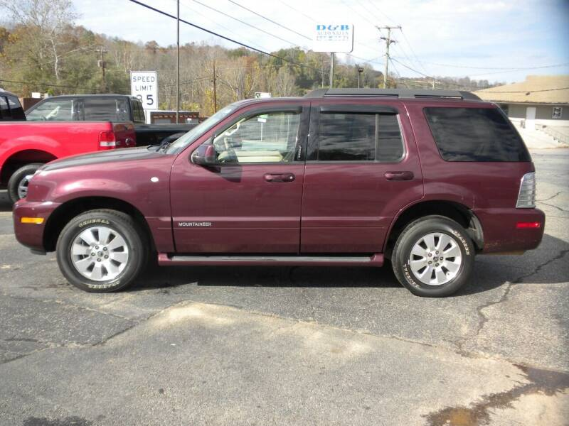 2007 Mercury Mountaineer for sale at D & B Auto Sales & Service in Martinsville VA