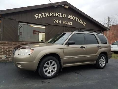 2008 Subaru Forester for sale at Fairfield Motors in Fort Wayne IN