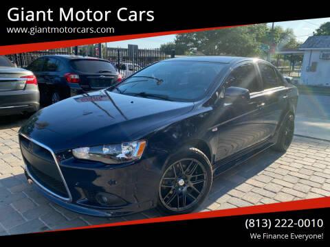 2013 Mitsubishi Lancer for sale at Giant Motor Cars in Tampa FL