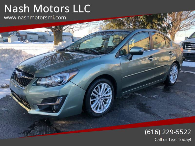2016 Subaru Impreza for sale at Nash Motors LLC in Hudsonville MI