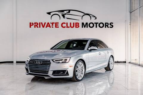 2018 Audi A4 for sale at Private Club Motors in Houston TX