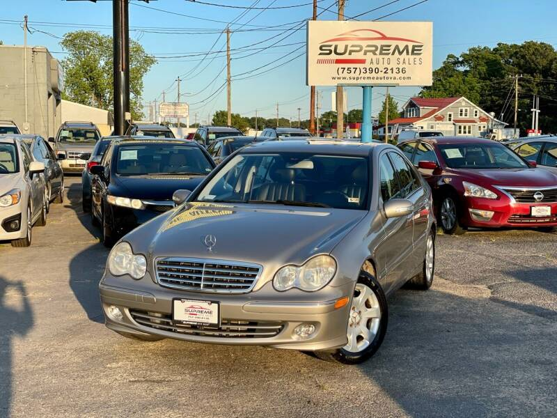 2005 Mercedes-Benz C-Class for sale at Supreme Auto Sales in Chesapeake VA