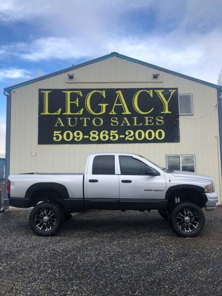 2004 Dodge Ram Pickup 2500 for sale at Legacy Auto Sales in Toppenish WA