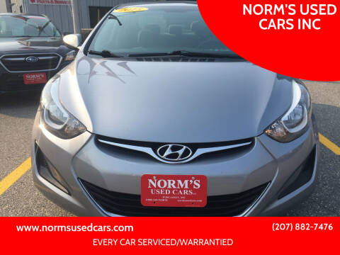 2015 Hyundai Elantra for sale at NORM'S USED CARS INC in Wiscasset ME