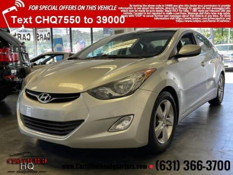 2013 Hyundai Elantra for sale at CERTIFIED HEADQUARTERS in Saint James NY