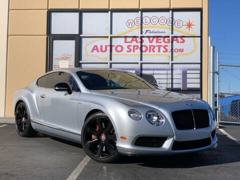 2015 Bentley Continental for sale at Las Vegas Auto Sports in Las Vegas NV