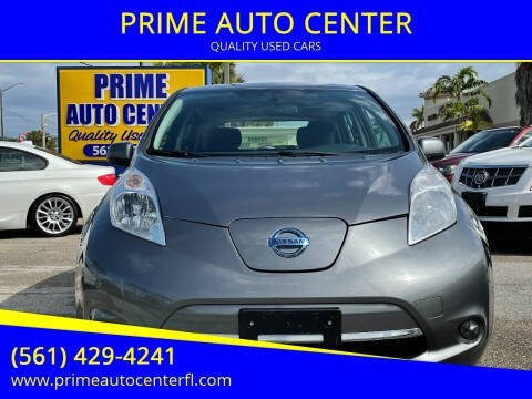 2015 Nissan LEAF for sale at PRIME AUTO CENTER in Palm Springs FL