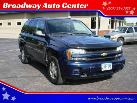 2004 Chevrolet TrailBlazer for sale at Broadway Auto Center in New Ulm MN