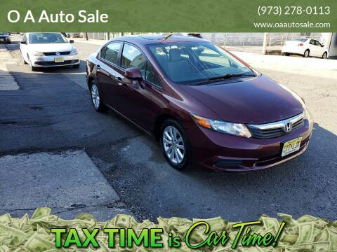 2012 Honda Civic for sale at O A Auto Sale in Paterson NJ