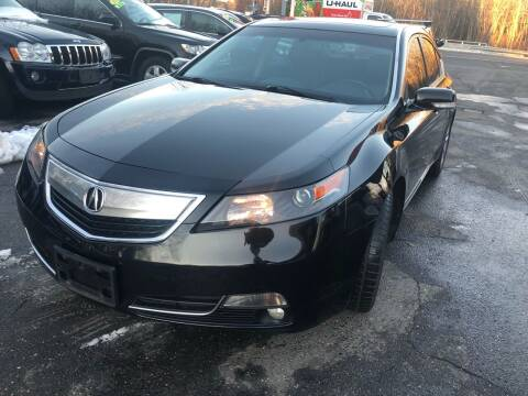 2013 Acura TL for sale at TOLLAND CITGO AUTO SALES in Tolland CT