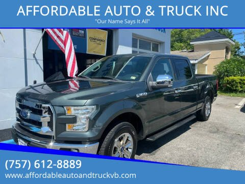 2015 Ford F-150 for sale at AFFORDABLE AUTO & TRUCK INC in Virginia Beach VA