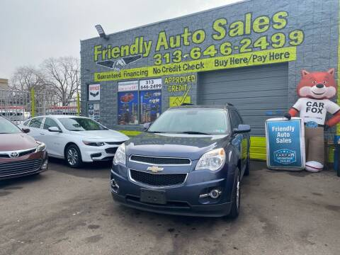 2013 Chevrolet Equinox for sale at Friendly Auto Sales in Detroit MI