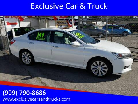 2014 Honda Accord for sale at Exclusive Car & Truck in Yucaipa CA