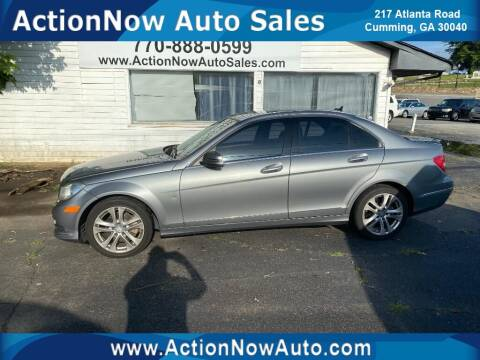 2014 Mercedes-Benz C-Class for sale at ACTION NOW AUTO SALES in Cumming GA