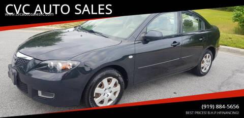 2008 Mazda MAZDA3 for sale at CVC AUTO SALES in Durham NC