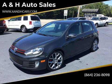 2013 Volkswagen GTI for sale at A & H Auto Sales in Greenville SC