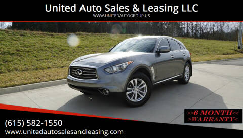 2013 Infiniti FX37 for sale at United Auto Sales & Leasing LLC in La Vergne TN