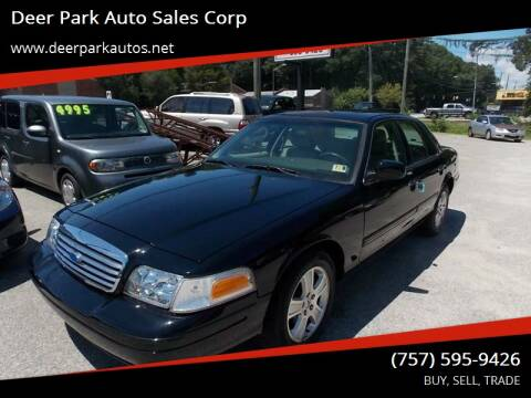2011 Ford Crown Victoria for sale at Deer Park Auto Sales Corp in Newport News VA